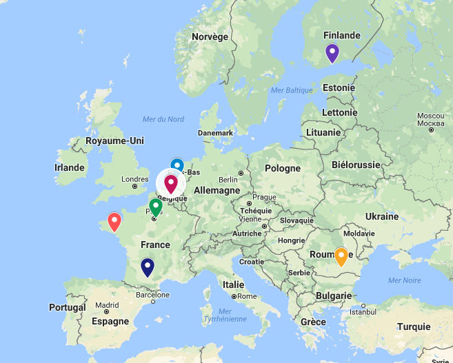 7 partners in Europe